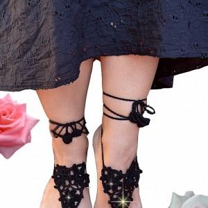Ozdoba na stopy - czarne sandałki ;o)