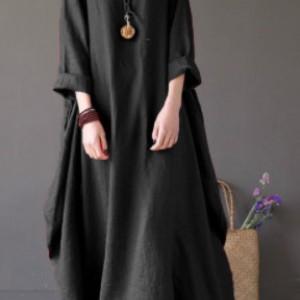 czarna sukienka oversize bawełna – sukienka rozmiar M