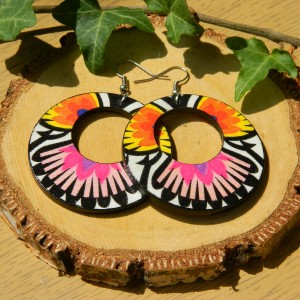 Kolczyki folk, Biżuteria boho, Kolczyki ludowe, biżuteria folkowa, kolczyki etno, biżuteria flamenco, kolczyki w stylu Fridy Kahlo, Duże kolczyki koła