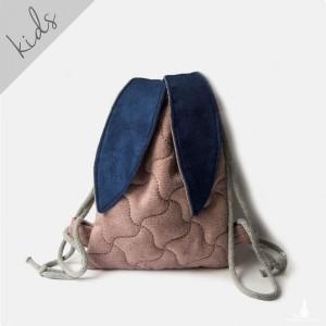 Mini plecak worek pikowany króliczek