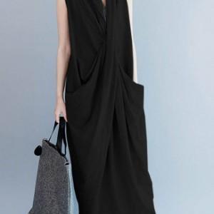 sukienka długa kolor czarny rozmiar M