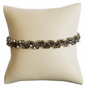 Bransoletka Dauphin Swarovski Elements® kolor silver night srebro 925