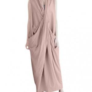 sukienka długa kolor łosoś rozmiar M
