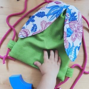 Mini plecak zielony filcowy króliczek