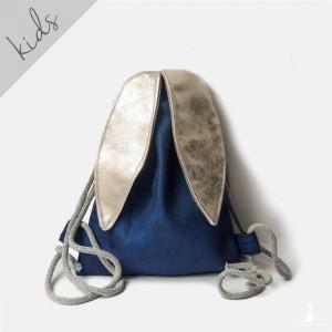 Mini plecak króliczek ze srebrnymi uszami