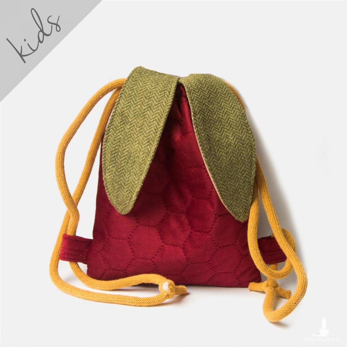 Mini plecak czerwony króliczek
