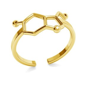 pierścionek SEROTONINA- srebro złocone
