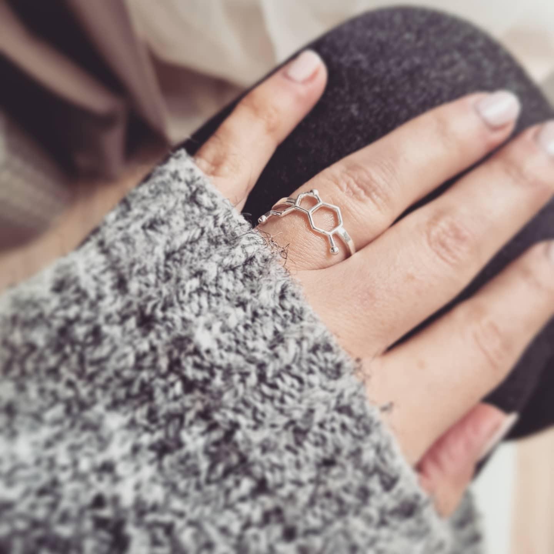 pierścionek SEROTONINA- srebro