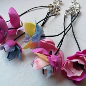 kolczyki kwiaty lekkie długie boho