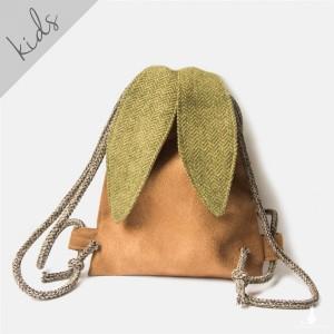 Mini plecak królik z zielonymi uszami