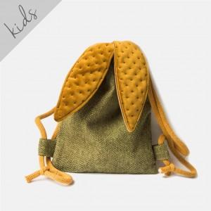 Mini plecak zielony króliczek w jodełkę