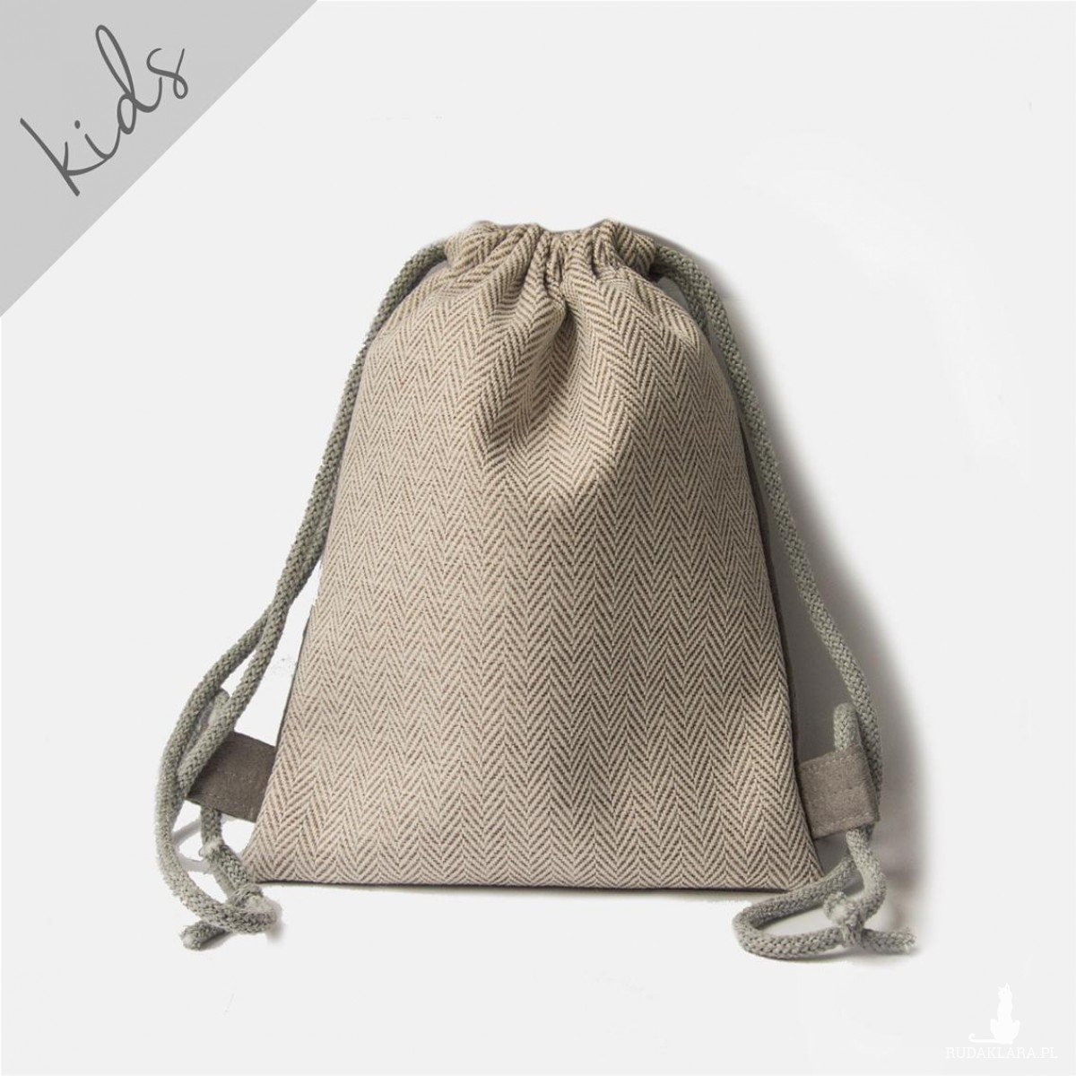 Mini plecaczek dziecięcy w jodełkę