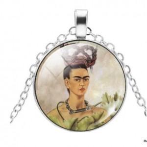 naszyjnik z Frida Kahlo, łańcuszek zapinany