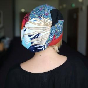 czapka damska etno boho folk patchwork