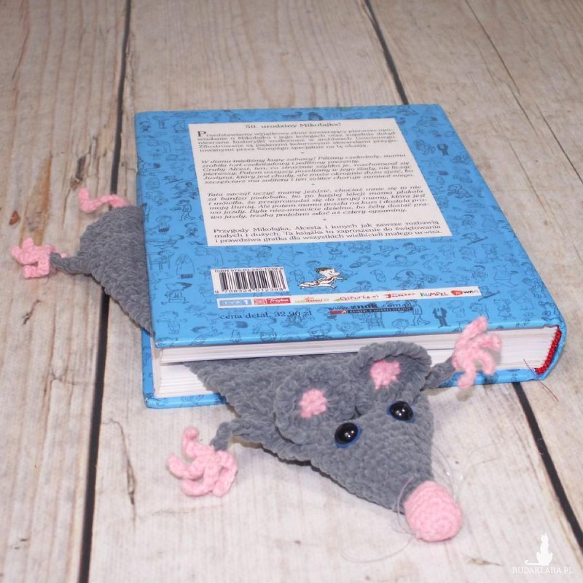 Zaczytany szczurek - zakładka do książki