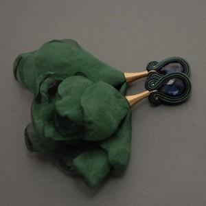 kolczyki lub klipsy sutasz z kwiatkami