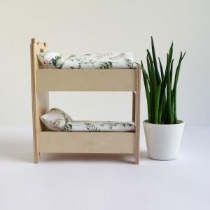 Łóżeczko piętrowe dla małych lal