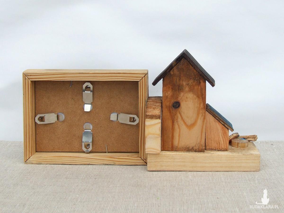 Drewniana ramka na małe zdjęcie