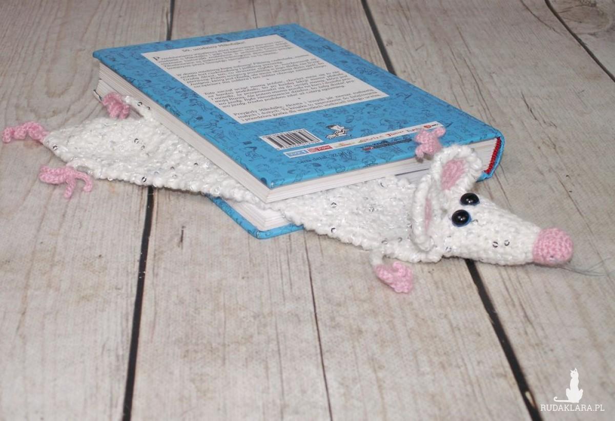 Zaczytany szczurek glam :) - zakładka do książki