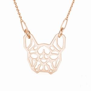 FRENCH BULLDOG- różowe złoto
