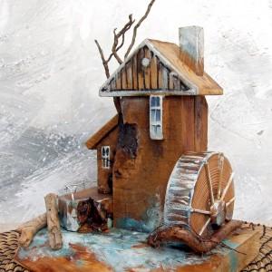 Dekoracja z drewna - Stary Młyn