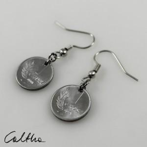Grosiki - kolczyki z monet kótkie