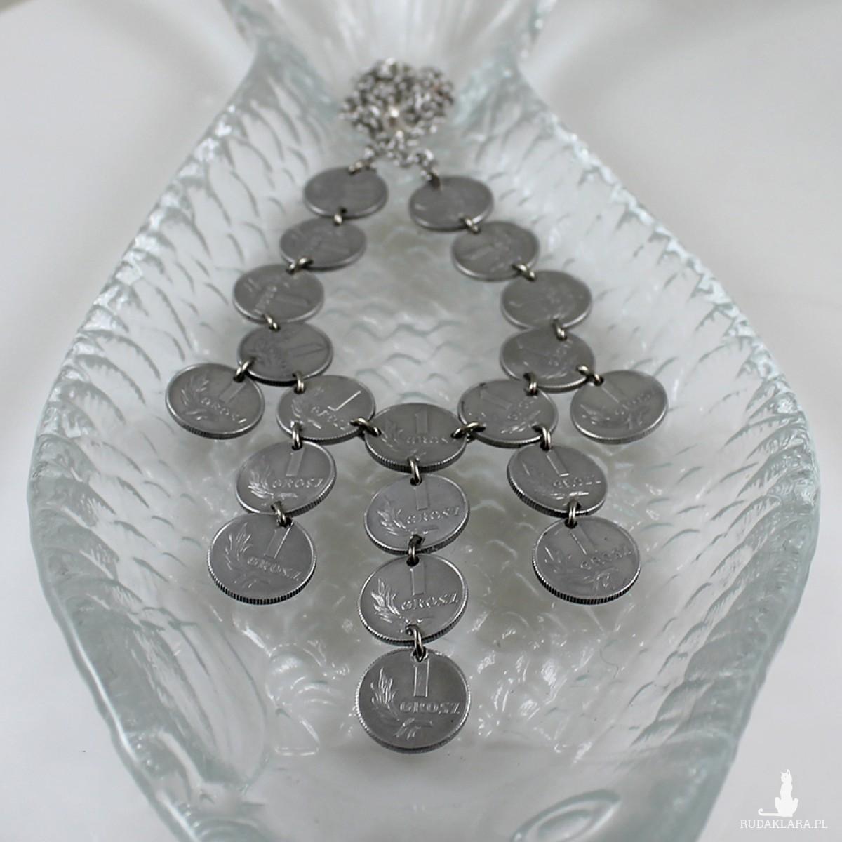 Grosiki - naszyjnik z monet większy