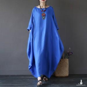 Niebieska bawełniana sukienka oversize rozmiar M