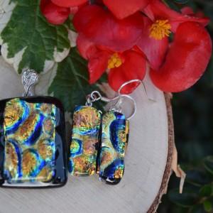Morskie złoto - szklana biżuteria 3D