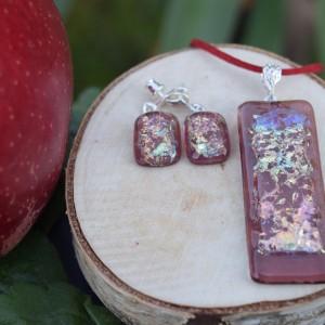 Pudrowy róż - szklana biżuteria
