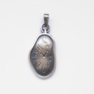 Zawieszka srebrna - Lejący zegar