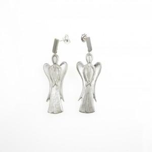 Kolczyki srebrne - Archanioł biały