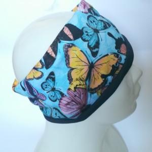 opaska damska podwójna w motyle  handmade