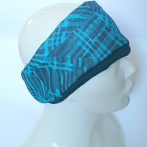 opaska damska podwójna niebieska   handmade