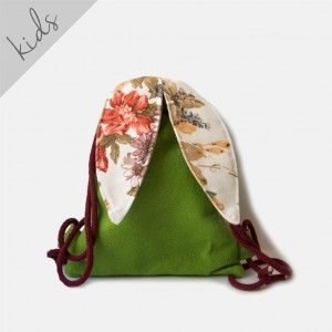 Mini plecak filcowy zielony króliczek