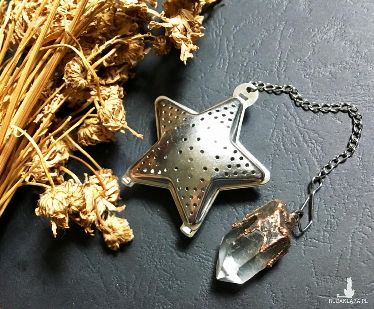 zaparzacz herbaty/ziół gwiazda z kryształem górskim