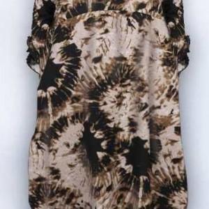 brązowa bawełniana sukienka oversize rozmiar L