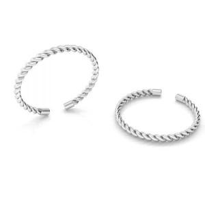 pierścionek SZNURECZEK- srebro