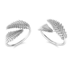 pierścionek LISTKI- srebro