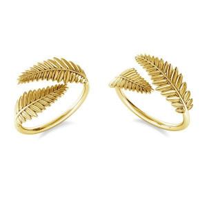 pierścionek LISTKI- srebro złocone