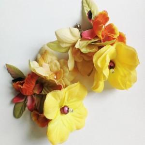 Kolczyki kwiatowe wkrętki wiszące