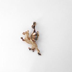 Wisiorek srebrny - Smok wawelski brązowy