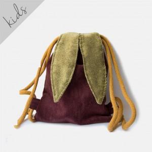 Mini plecak worek króliczek w jodełkę