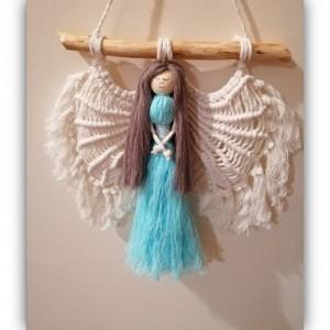 makramowy aniołek