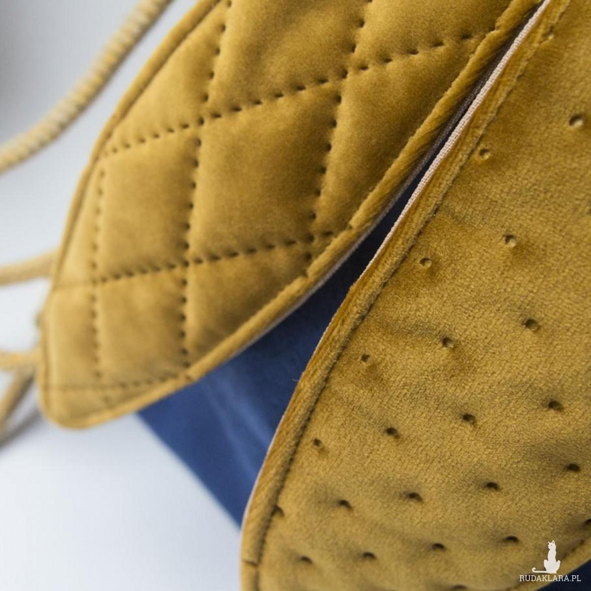 Mini plecak królik granatowo-miodowy