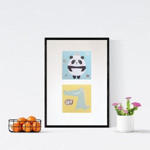 zwierzęta plakat, pastelowa grafika dla dzieci, plakat do dziecięcego pokoju