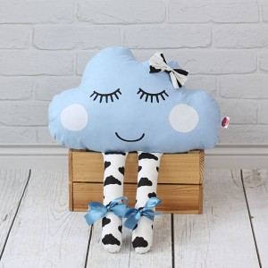 Chmurka z oczami i nóżkami – niebieska