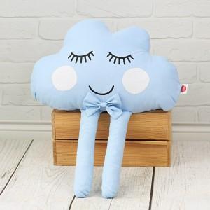 Chmurka z oczkami i nóżkami + MUSZKA – błękitna