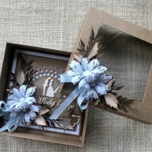 002 Kartka w pudełku na ślub w stylu rustykalnym