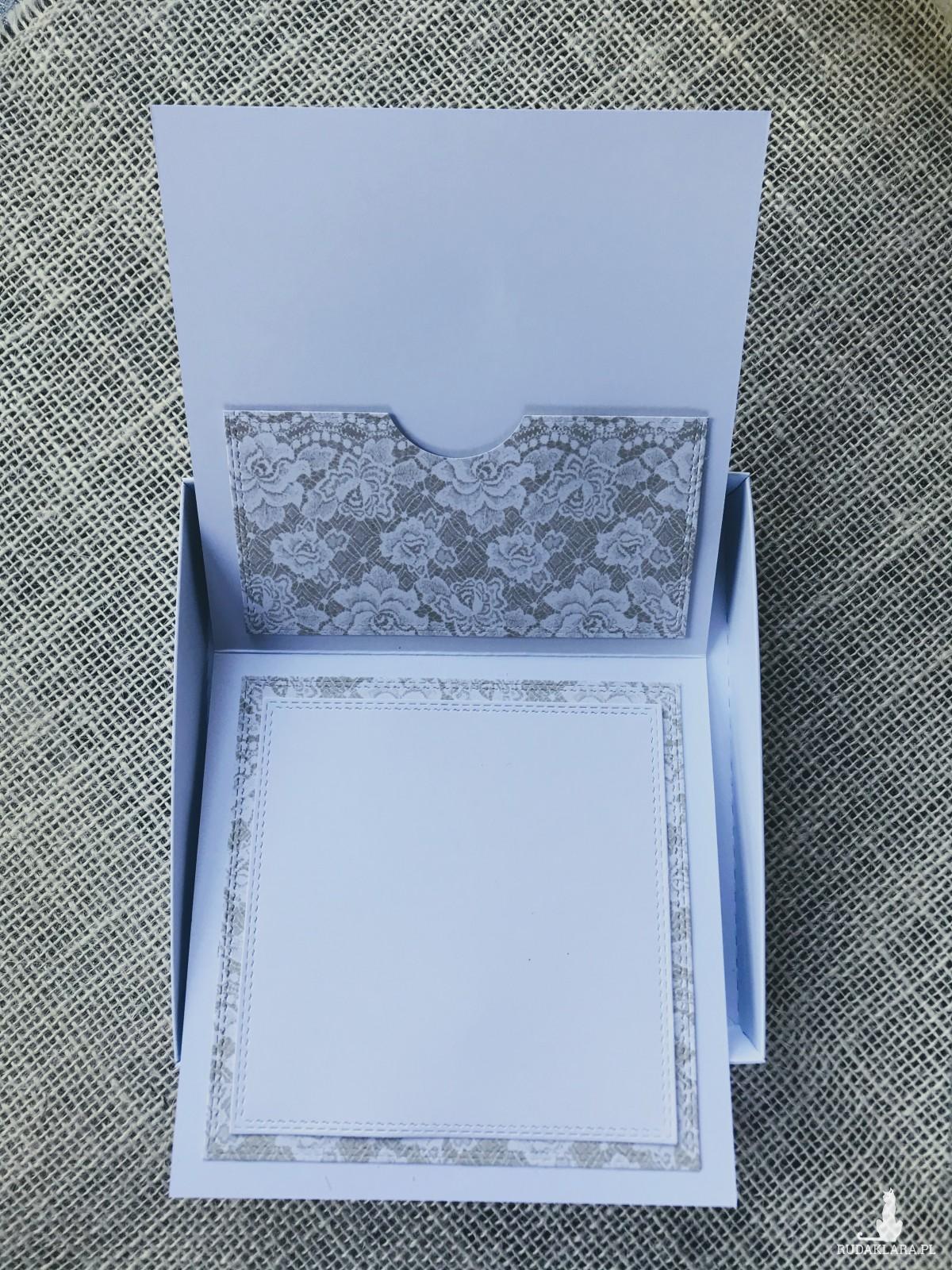 009 Kartka na ślub -Młodej Parze w pudełku